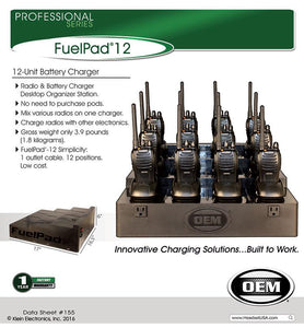 FuelPad12™ 12-Unit Battery Charger Organizer fits Blackbox Plus