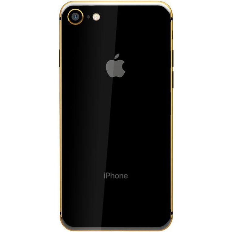 Apple iPhone 8 without FaceTime - 256GB, 4G LTE, Black with Gold Plated Frame