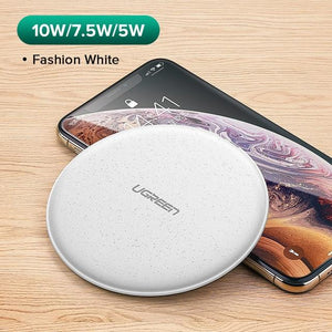 Wireless Charger for iPhone X Xs 8 Plus 10W Qi Fast Wireless Charging Pad for Samsung S10 Note 9 AirPods Xiaomi Charger