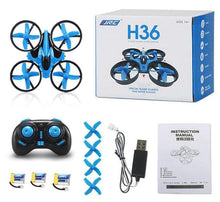 Load image into Gallery viewer, 3 Batteries Mini Drone Rc Quadcopter Fly Helicopter Blade Inductrix Drons Quadrocopter Toys For Children Jjrc H36 Dron Copter