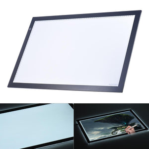 A2 LED Light Box Drawing Tracing Tracer Copy Board Table Pad Panel Copyboard with Memory Function Stepless Brightness Control for Artist Animation Tattoo Sketching Architecture Calligraphy Stenciling