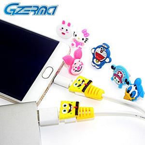 10PCS Charging Wire Cable Saver Protector for Android Cell Phone Micro USB Charger Cartoon Style for Samsung for Oppo For Meizu