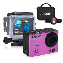 "Load image into Gallery viewer, Andoer Q3H-R 4K 30fps 16MP WiFi Sports Action Camera 1080P Full HD 170° Wide-Angle Lens Waterproof 30m 2"" LCD w/ Remote Control + Portable Carrying Case"