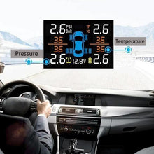 Load image into Gallery viewer, Auto LCD Car Tire Pressure Monitoring System with Dual USB Charge Ports