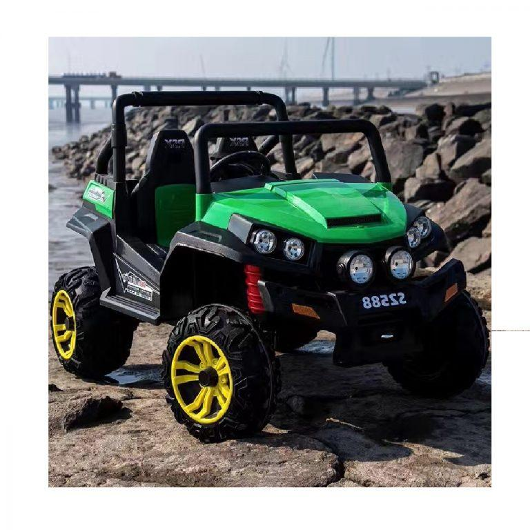 4x4 Beach Buggy Kids Ride-On Car By Little Riders Electric Toy Motorised 24V - Green