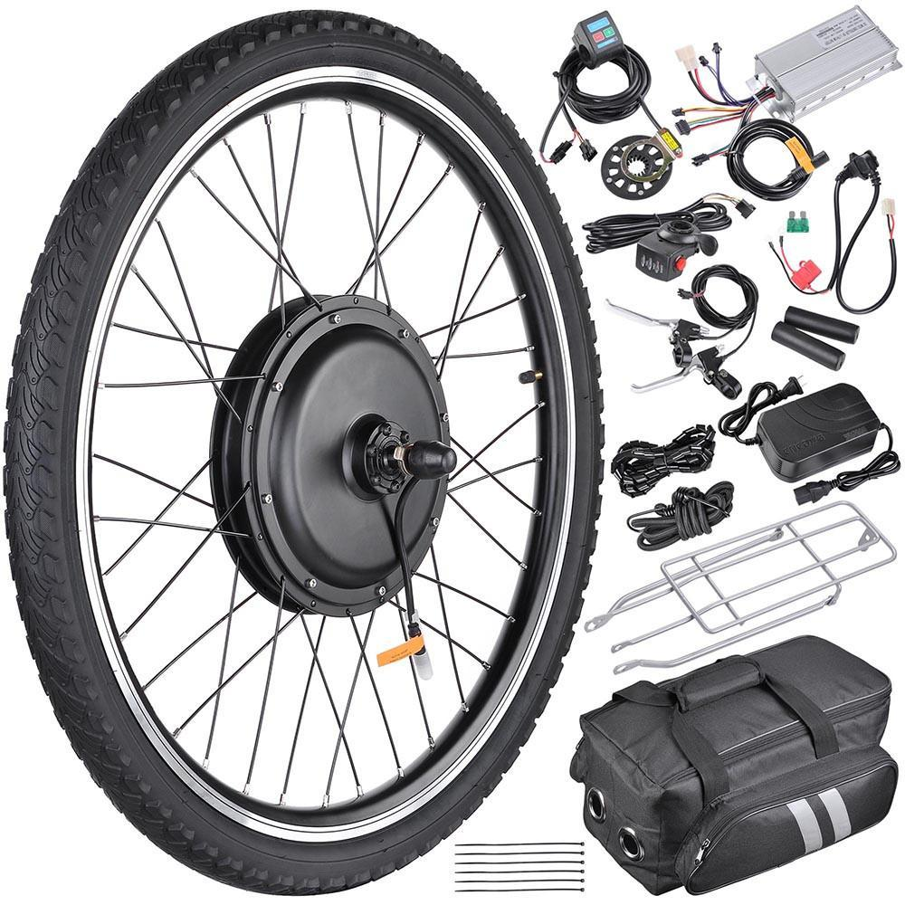 26in Front Hub Electric Bicycle Motor Conversion Kit 48v 1000w