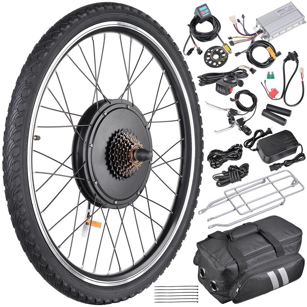 26in Rear Hub Electric Bicycle Motor Conversion Kit 48v 1000w