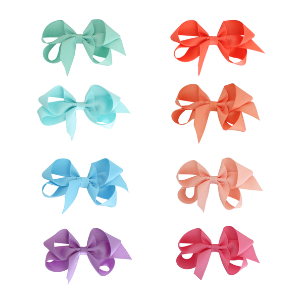 Small Grosgrain Bow - Tropical Colors