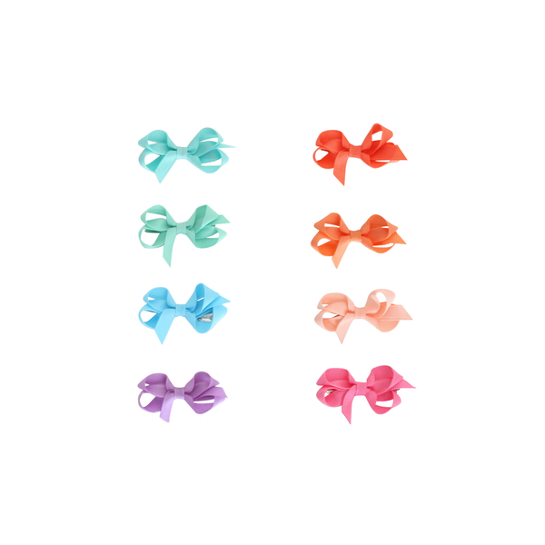 Infant Grosgrain Bow - Tropical Colors
