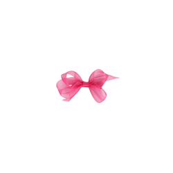 Infant Organdy Bow - Azalea