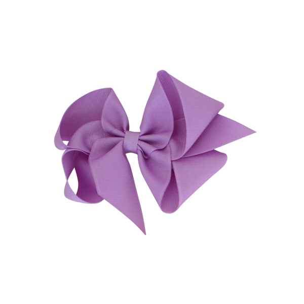 Big Grosgrain Bow - Orchid Purple