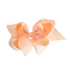 Giant Grosgrain Bow - Coral Ice