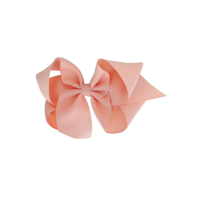 Big Grosgrain Bow - Coral Ice