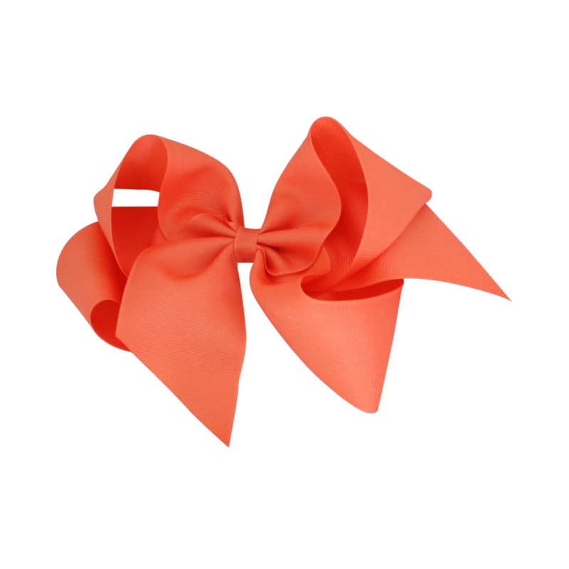 Giant Grosgrain Bow - Coral