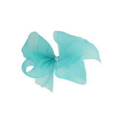 Big Organdy Bow - Aqua