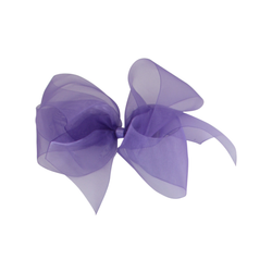 Big Organdy Bow - Delphinium Purple