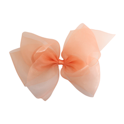 Giant Organdy Bow - Peach