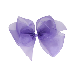Giant Organdy Bow - Delphinium Purple