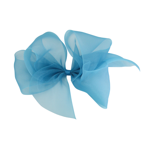 Giant Organdy Bow - Sapphire Blue