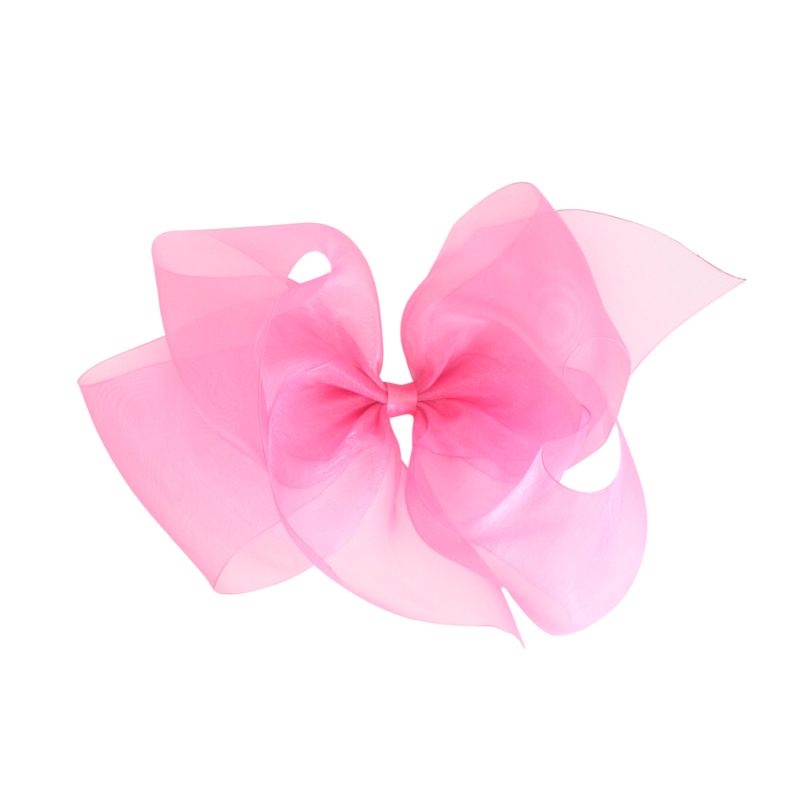 Giant Organdy Bow - Hot Pink
