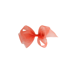 Small Organdy Bow - Tomato
