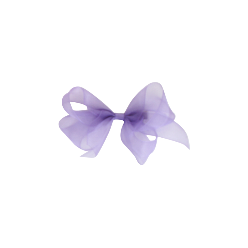 Small Organdy Bow - Delphinium Purple