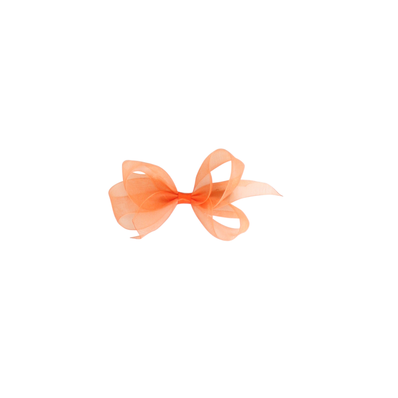 Infant Organdy Bow - Tomato