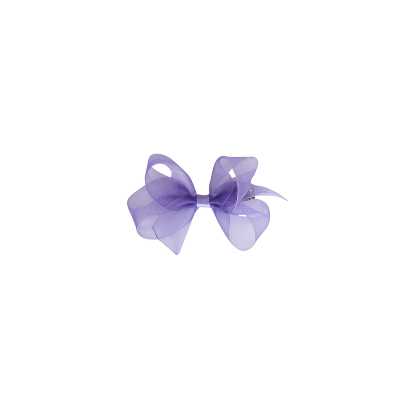 Toddler Organdy Bow - Delphinium Purple