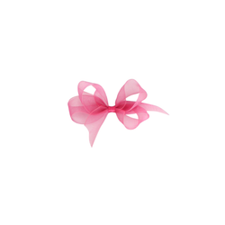 Toddler Organdy Bow - Azalea Pink