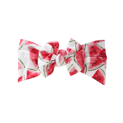 Watermelon Wide Nylon Print Bow Headband