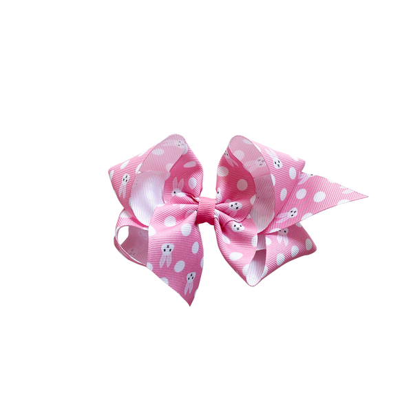 Big Pink Bunny Grosgrain Bow