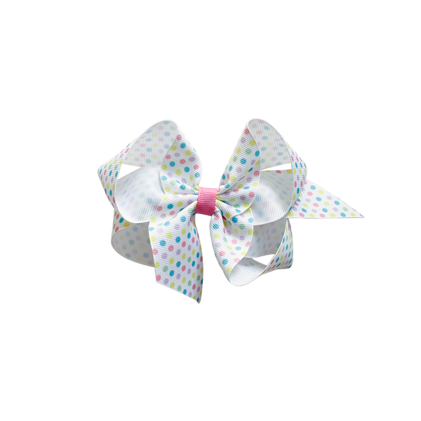 Big Pastel Mini Dot Bow