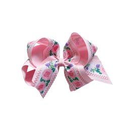 Giant Pink Floral Double Bow