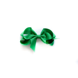 Toddler Green Grosgrain Bow