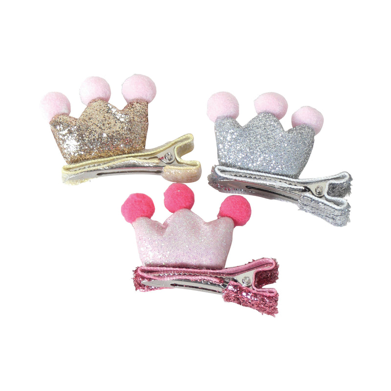 Tiny Crown Glitter Clip