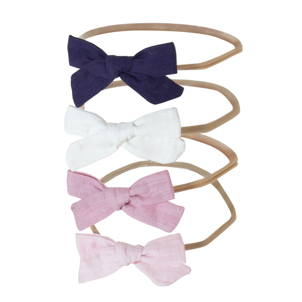Linen Shoelace Bow Headband