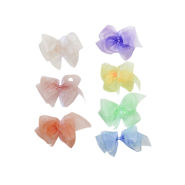 Big Organdy Bow Spring Colors