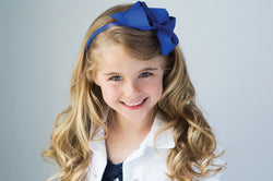 Basic Bright Grosgrain Big Bow Headband
