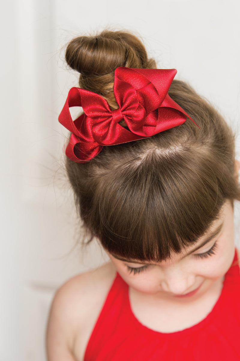 Big Diamond Dust Satin Bow