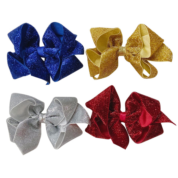 Big Holiday Diamond Dust Velvet Bow