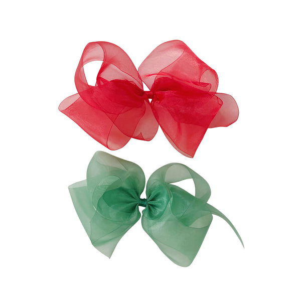 Big Holiday Organdy Bow