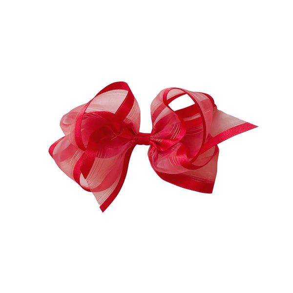 Big Red Satin & Organdy Bow