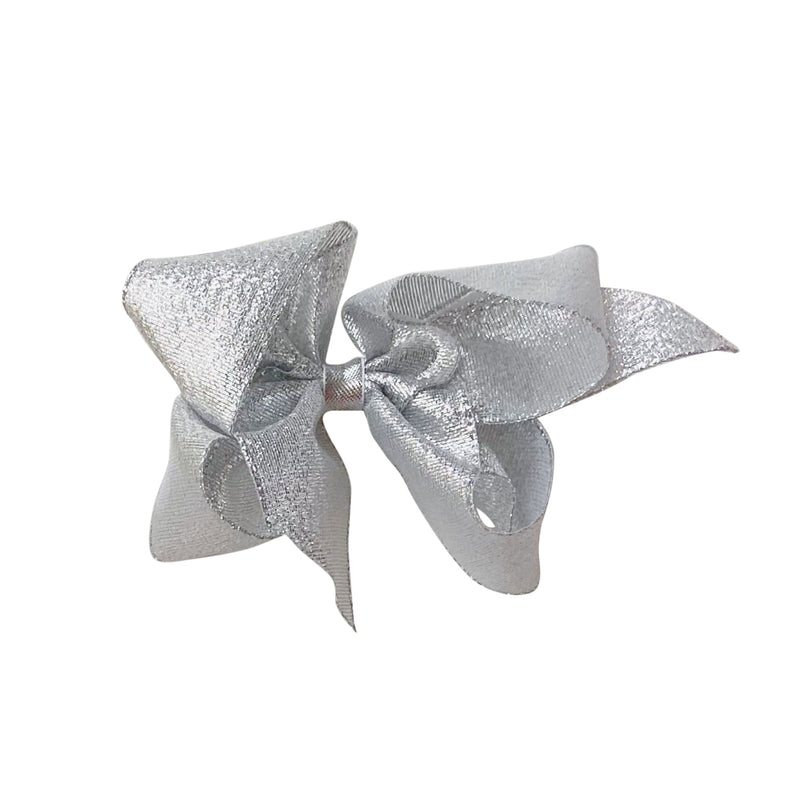 Big Silver Galena Metallic Bow