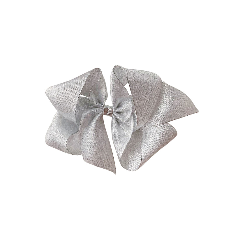 Big Silver Twinkle Metallic Bow
