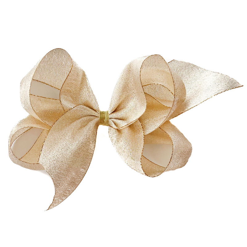 Giant Gold Twinkle Metallic Bow