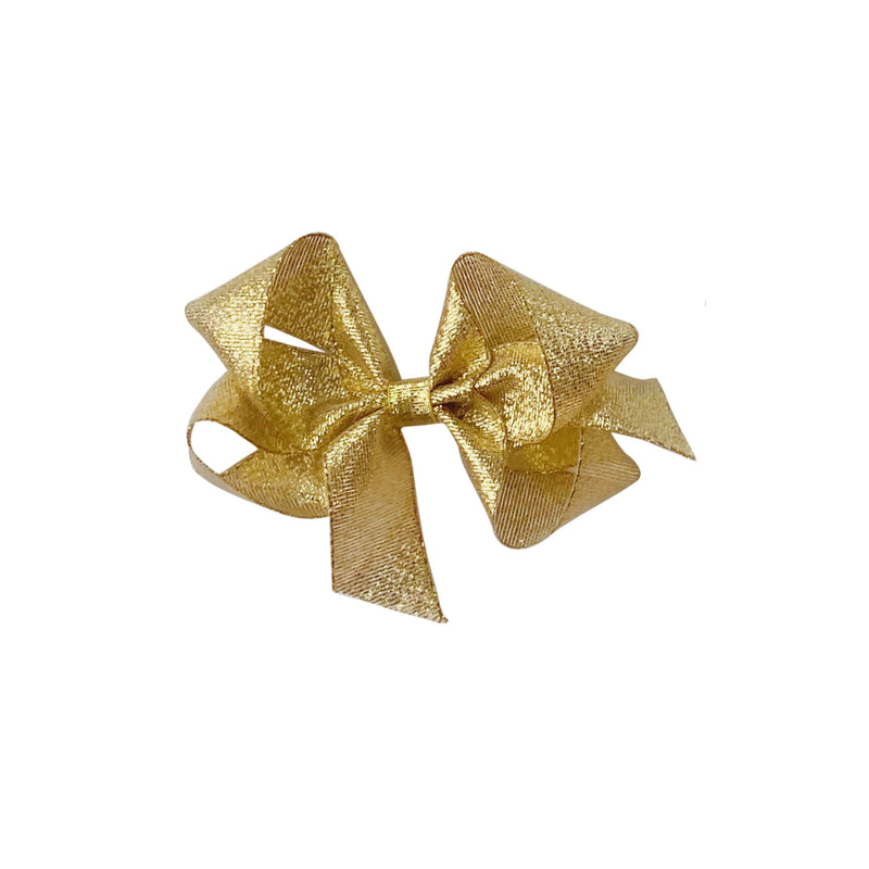 Small Gold Galena Metallic Bow