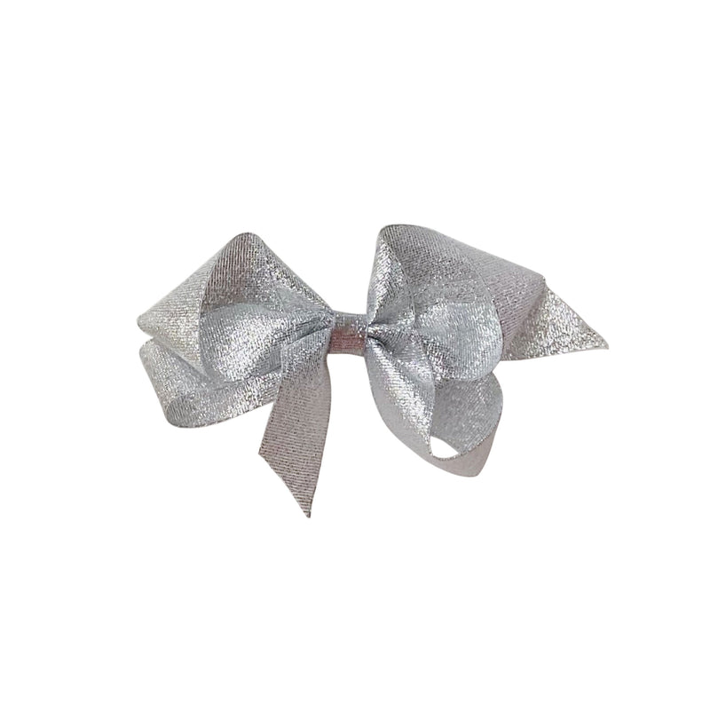 Small Silver Galena Metallic Bow