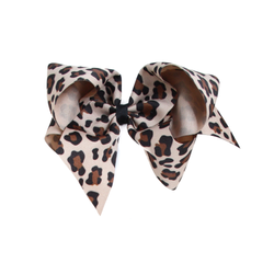 Giant Large Leopard Print Bow