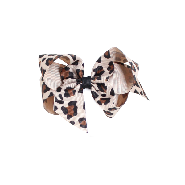 Big Leopard Large Print Bow