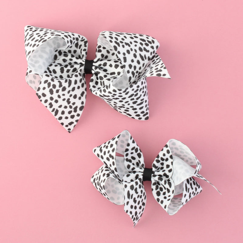 Giant Dalmatian Dot Bow
